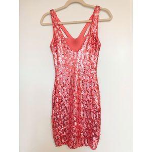 BCBG Dresses - BCBG hot pink sequin mini dress